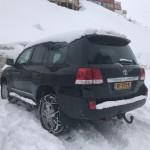 VDJ200 in de sneeuw!